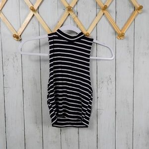NWT B.P. Black and White Striped Tank